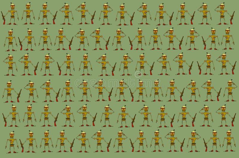 Tapete mit Soldaten stock abbildung