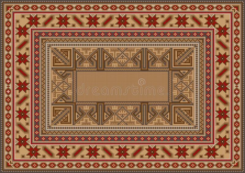 Tapete oriental luxuoso com teste padrão original ilustração do vetor