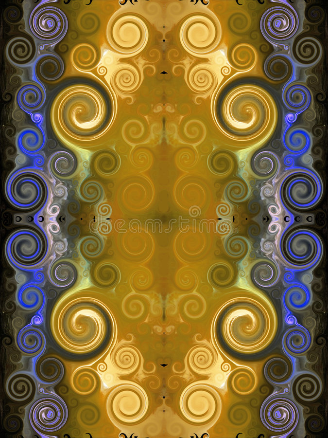 Tapete persa dourado ilustração stock