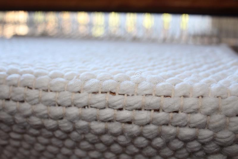 Tapete tecido mão do algodão foto de stock royalty free