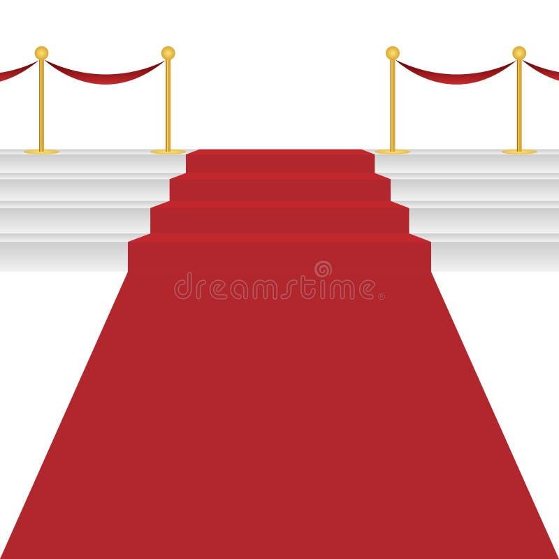 Tapete vermelho ilustração do vetor