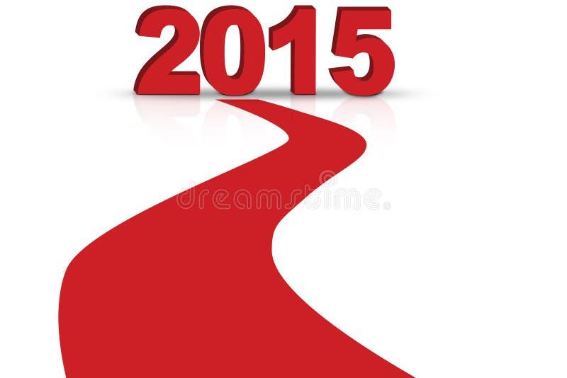 Tapete vermelho a 2015 ilustração royalty free