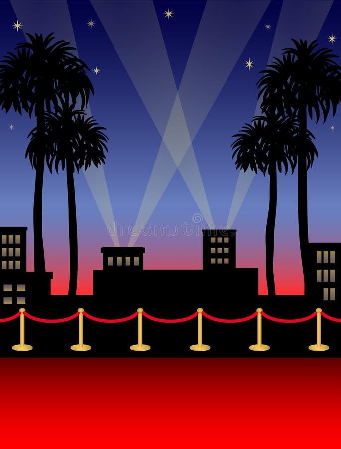 Tapete vermelho de Hollywood/eps ilustração stock