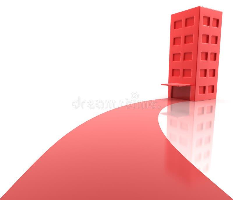 Tapete vermelho do apartamento ilustração royalty free