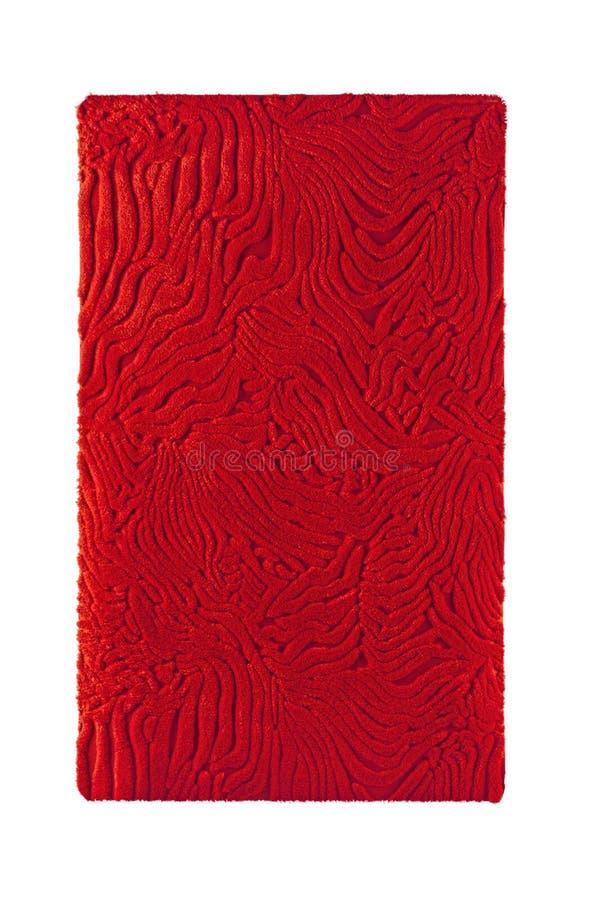 Tapete vermelho do tapete com trajeto de grampeamento imagem de stock