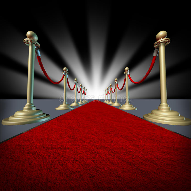Tapete vermelho Hollywood ilustração stock