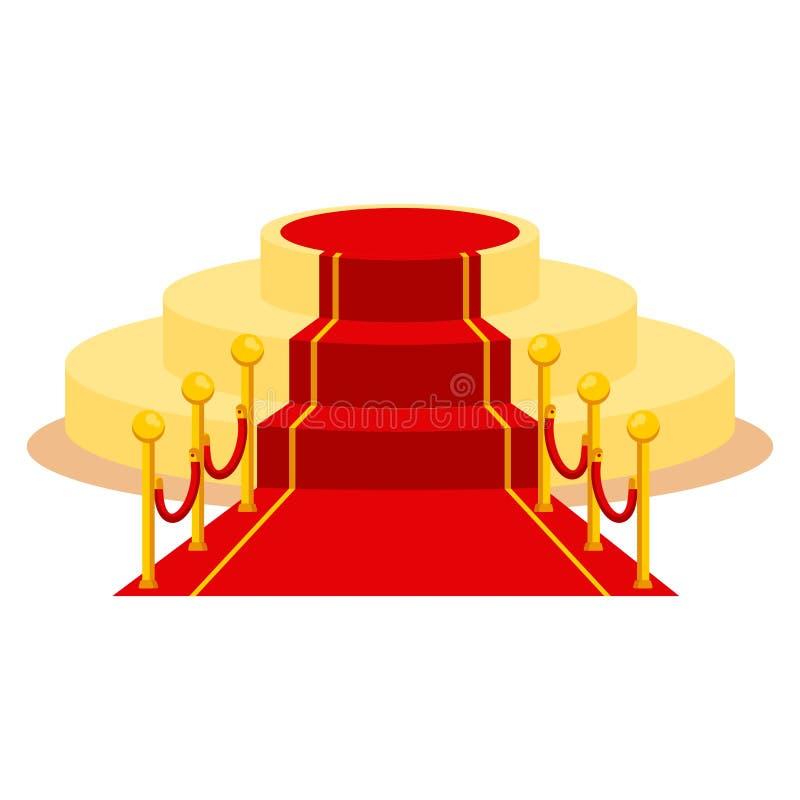 Tapete vermelho isolado ilustração stock