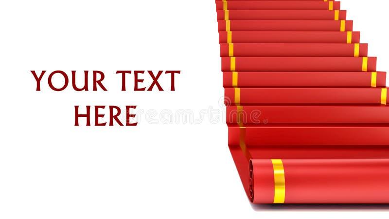 Tapete vermelho na escada do sucesso Conceito ilustração 3D ilustração royalty free