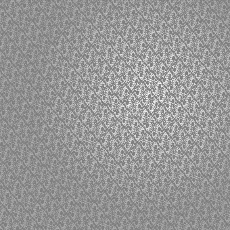 Tapeten-abstrakter silberner Batik Parang Yogyakarta lizenzfreies stockbild