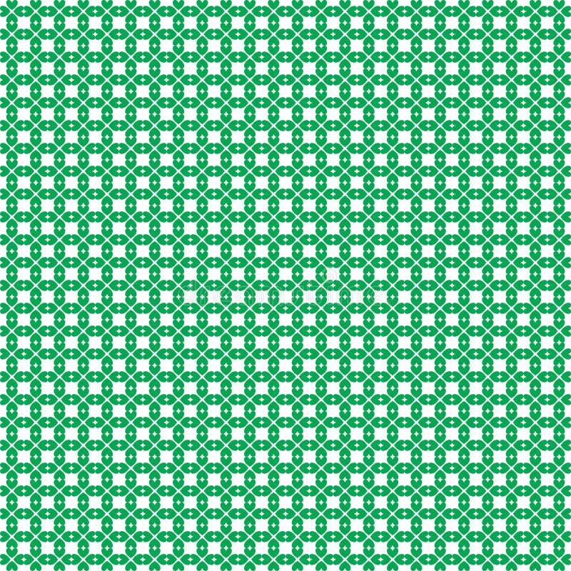Tapeten ut för dagen för St Patricks skrivar den sömlösa med treklöverer på vit royaltyfri illustrationer