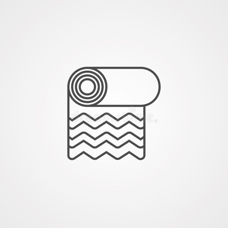 Tapetenvektorikonen-Zeichensymbol lizenzfreie abbildung