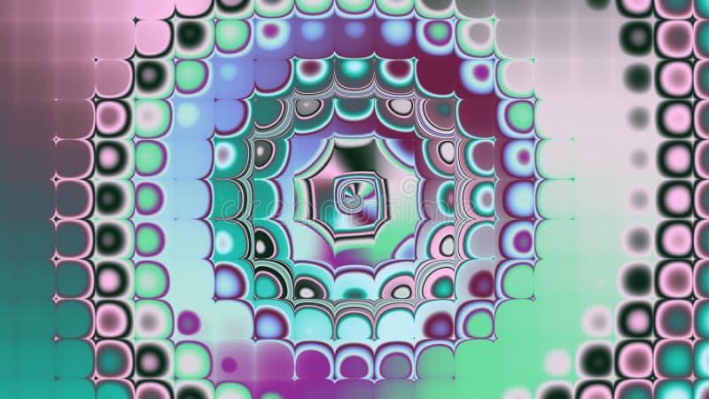 Tapeter för ditt skrivbord Spirala flerfärgade bollar royaltyfri illustrationer