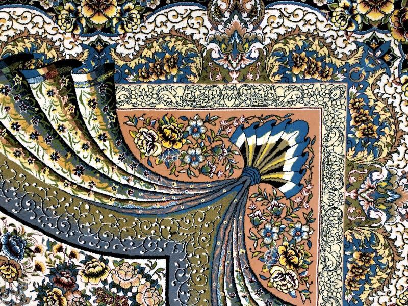 Tapetes tecidos à mão com testes padrões coloridos do trabalho duro bonito fotografia de stock