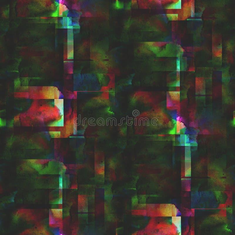 Tapetowa obrazek czerwień, zielony bezszwowy styl ilustracji