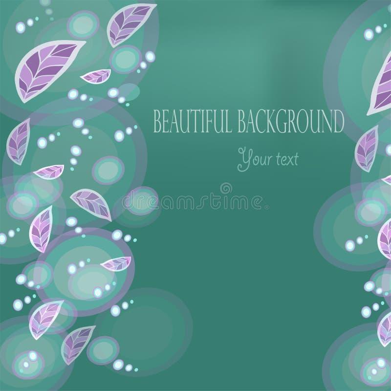 Tapetowego wektorowego sztandaru piękna abstrakcja z kwiatami dla t ilustracja wektor