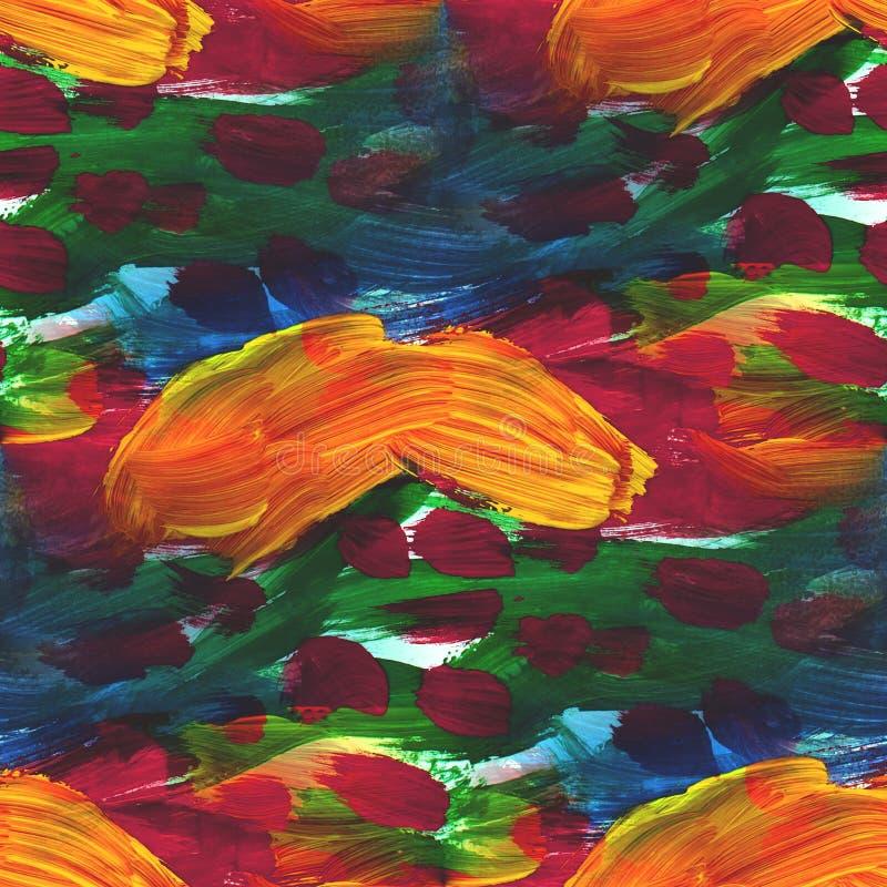 Tapetowy obrazka kolor żółty, zieleń, czerwień bezszwowa ilustracji