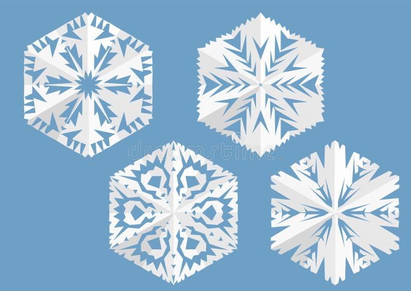 Tapetuje płatek śniegu ilustracji