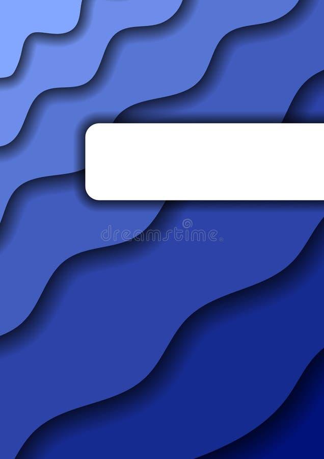Tapetuje rżniętego tło pionowo od błękitnych warstew dla biznesowych prezentacji, ulotki, plakaty, sztandar, kartka z pozdrowieni royalty ilustracja