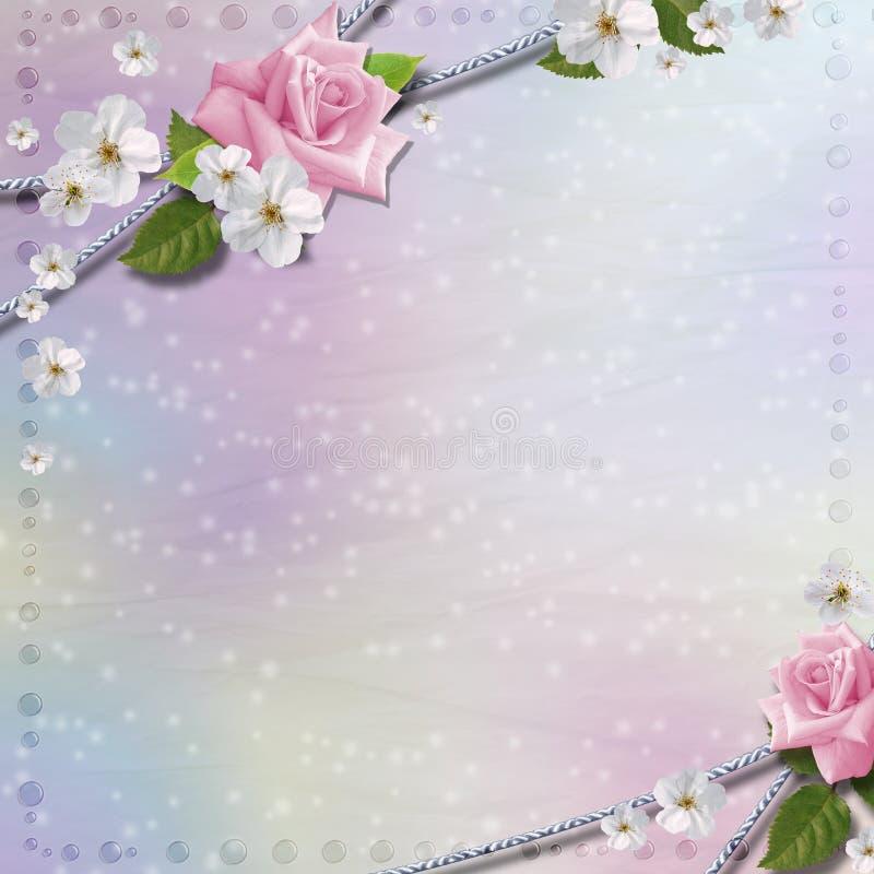 Tapetuje tło z kwiatami obraz stock