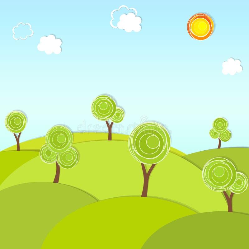 Tapezieren Sie Baum stock abbildung