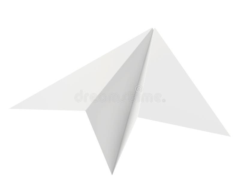 Tapezieren Sie Flugzeug Getrennt auf weißem Hintergrund sauber stock abbildung