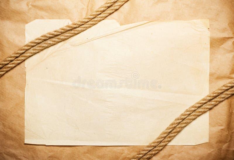 Tapezieren Sie Hintergrund mit Seil lizenzfreie stockfotos