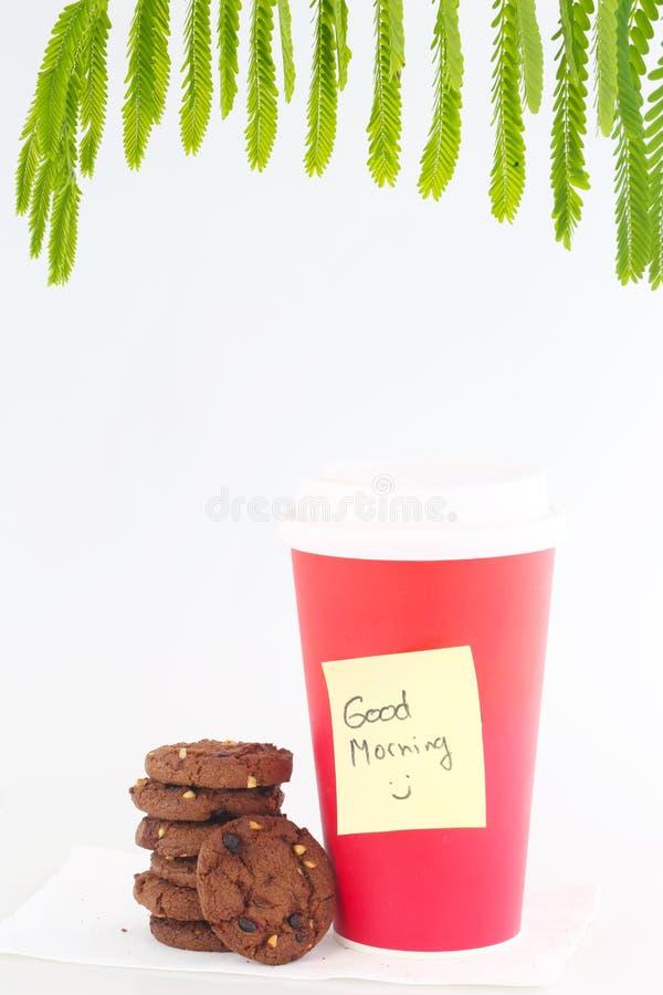 Tapezieren Sie Kaffeetasse stockfotografie
