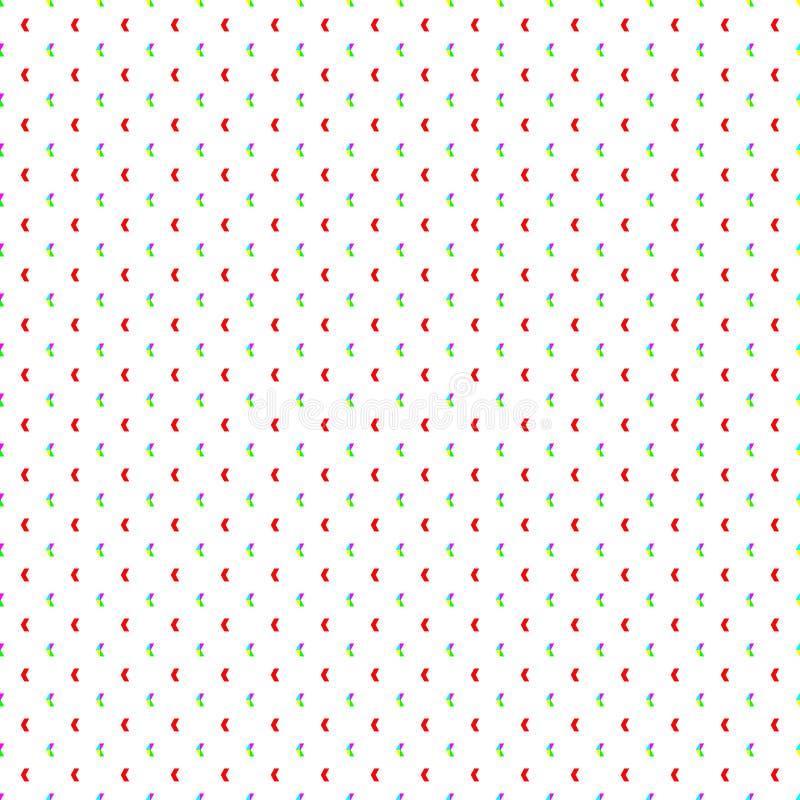 Tapezieren Sie nahtloses Muster mit Mehrfarbensymbol - Vektor lizenzfreie abbildung