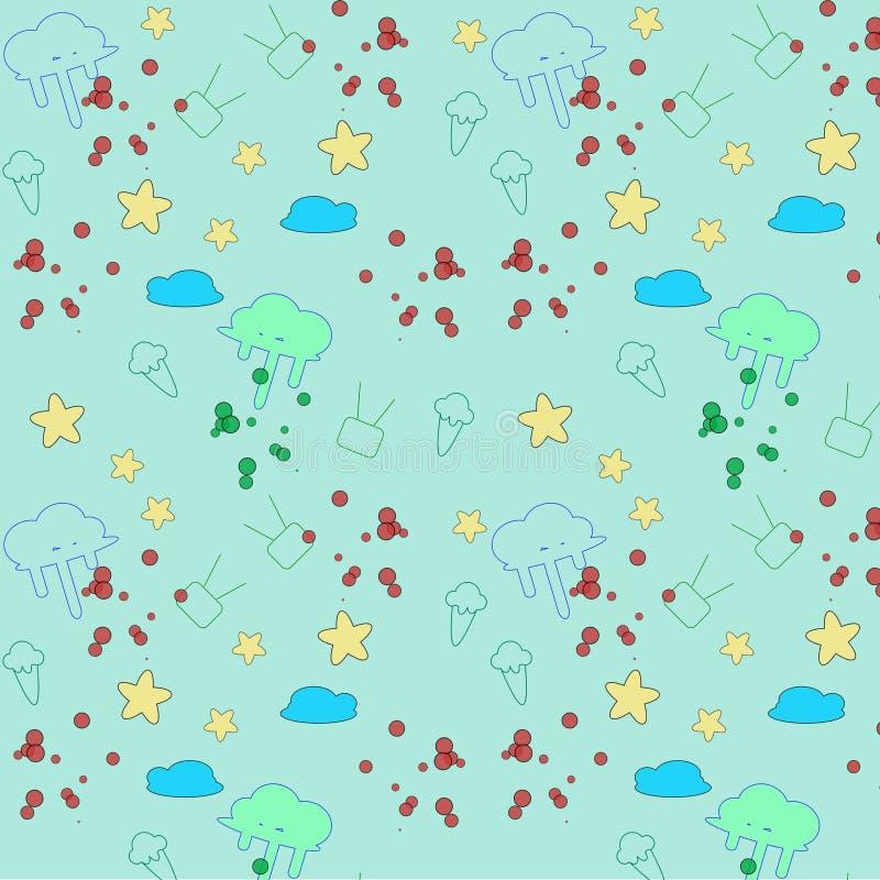 Tapezieren Sie Natur und wenden Sie für Hintergrund, Illustration ein vektor abbildung