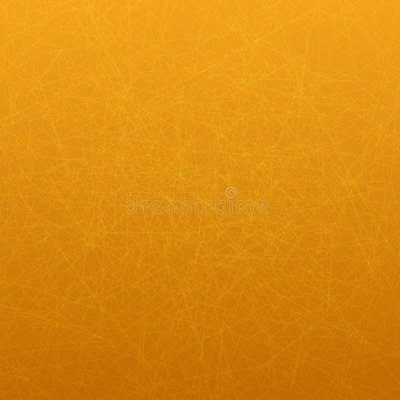 Tapezieren Sie Thema mit dünnen Linien auf orange Hintergrund lizenzfreie abbildung