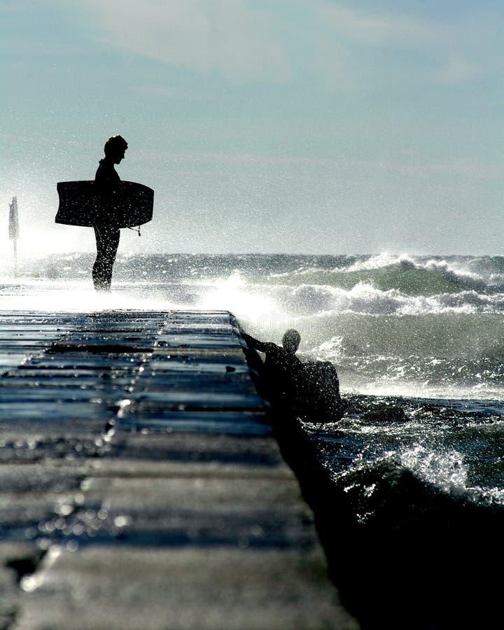 Tapfere Surfer stockfotografie