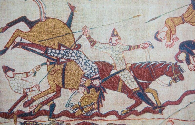 Tapicería de Bayeux imágenes de archivo libres de regalías