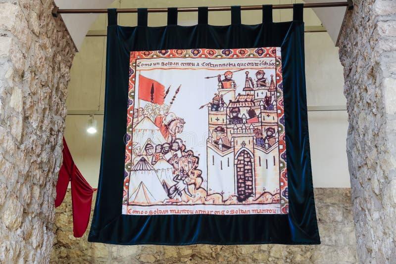 Tapicería medieval de Colorfull foto de archivo