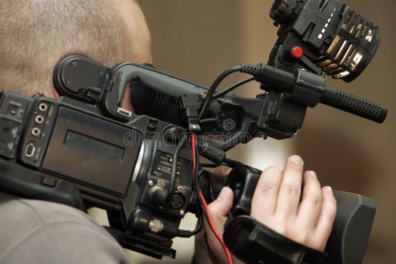Taping en la cámara de vídeo fotografía de archivo