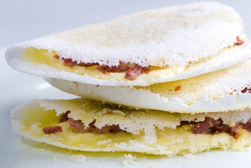 Tapioca. A delicious brazilian snack made with cassava flour stock photos