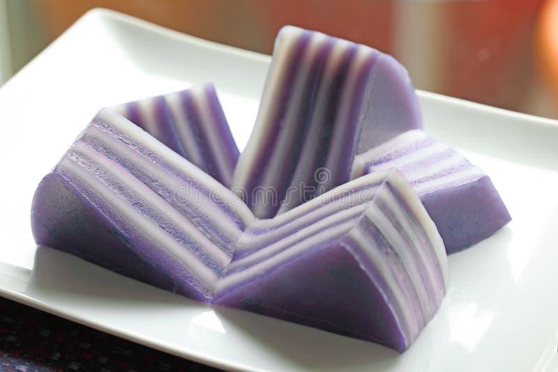 Tapioca Coconut Milk Cake stock photo