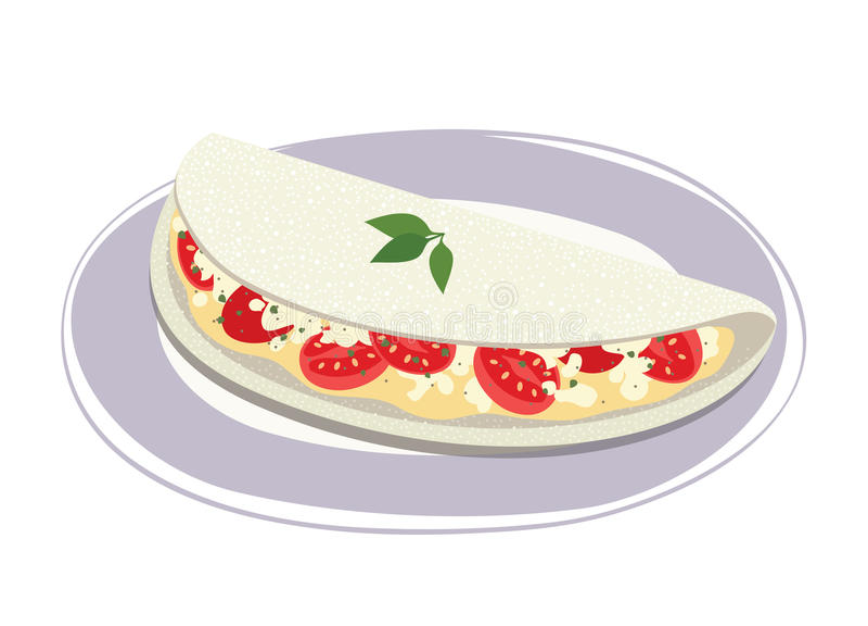 Tapioca del queso stock de ilustración