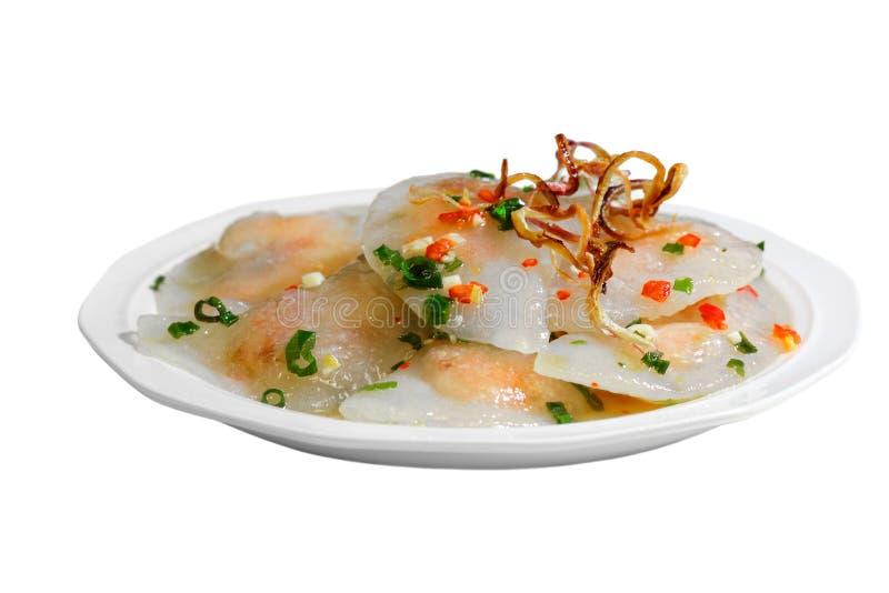 Tapioca dumpling. Shrimp in glutinous tapioca flour dumpling, banh bot loc, Vietnamese cuisine stock image