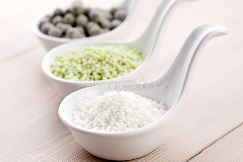 Tapioca pearls. Bubble tea ingredients royalty free stock photography