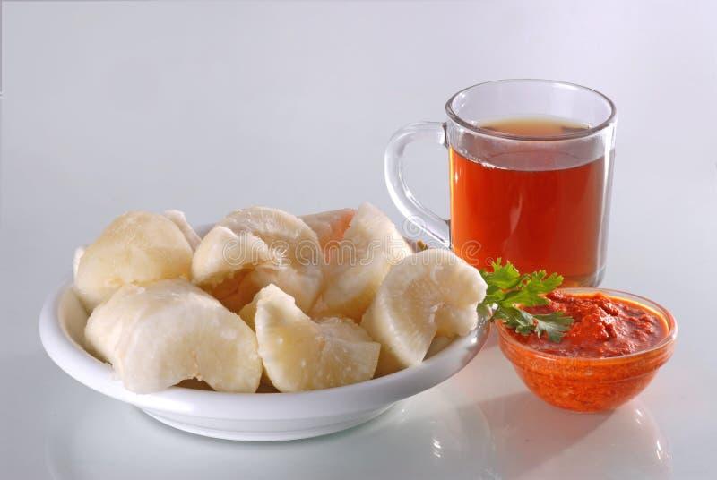 Tapioca with tea royalty free stock photo
