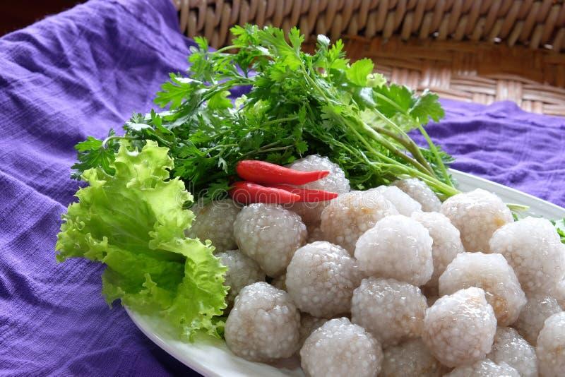 Tapiocas doces tailandesas da carne de porco fotos de stock royalty free