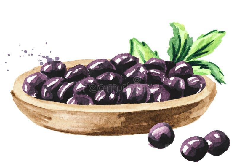 Tapiokaball auf hölzerner Platte, boba im Blasentee Bestandteile für die Herstellung des Perlenmilchtees Chef gie?t Oliven?l ?ber stock abbildung