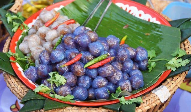 tapiokabollar med grisköttfyllning royaltyfri foto