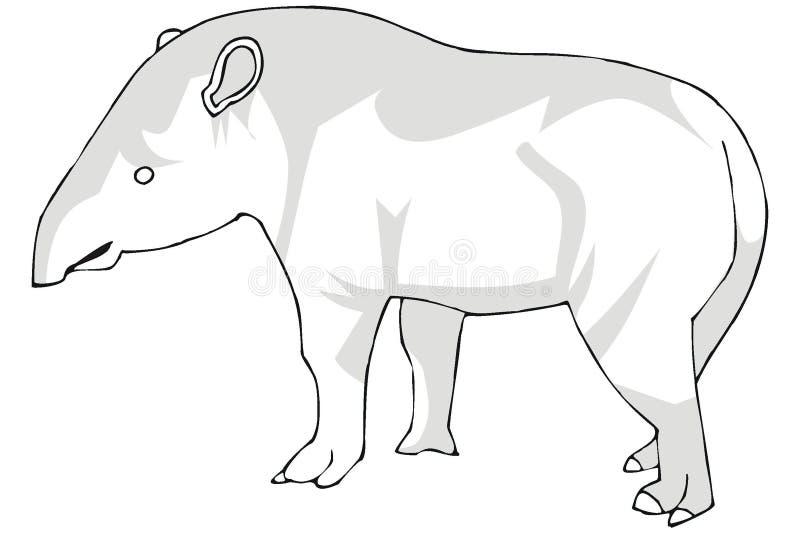 Download Tapir stock vector. Image of mammal, tapir, dolmen, forest - 3590611