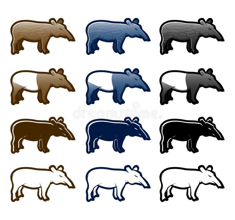 Tapir stock abbildung