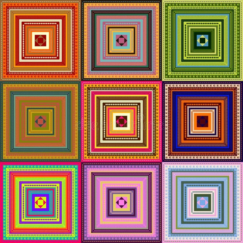Tapis - configuration colorée illustration libre de droits