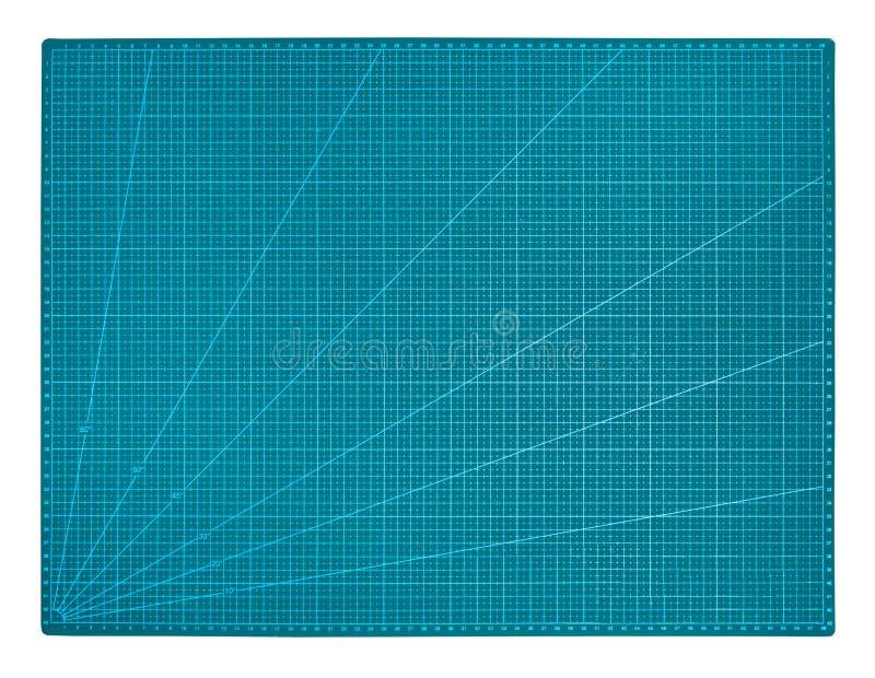 tapis curatif de coupe d'individu vert d'isolement sur le blanc photos stock