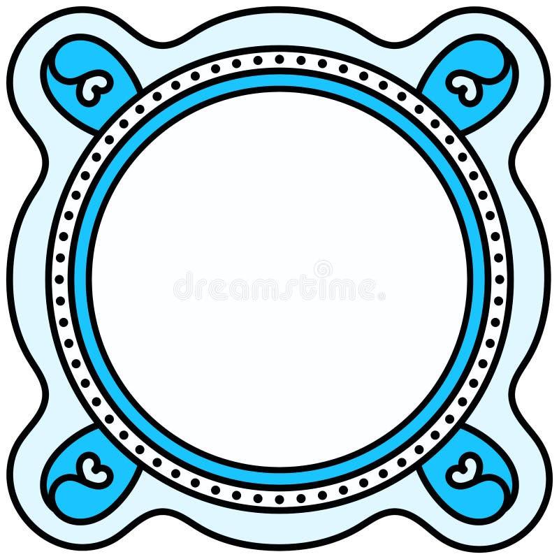 Tapis d'endroit circulaire de cadre de frontière illustration libre de droits