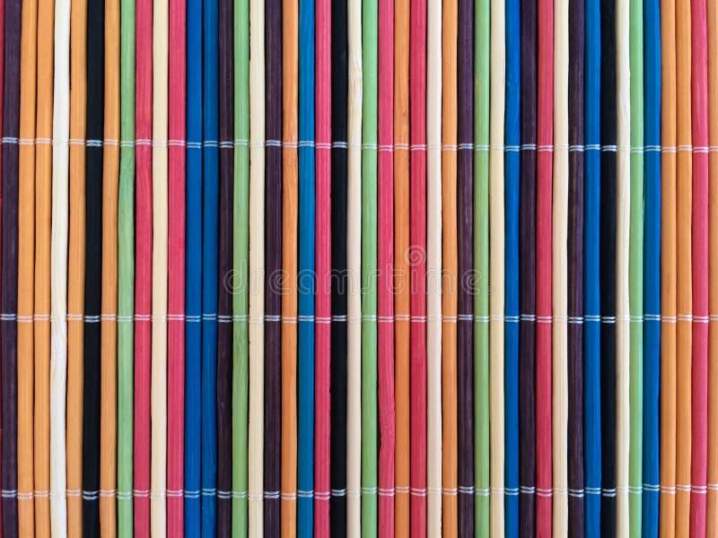 Tapis en bambou coloré photo stock