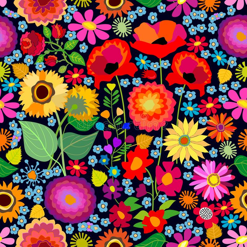 Tapis ensoleillé d'automne illustration libre de droits